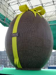 large easter eggs photograph picture of a chocolate easter egg guiness world