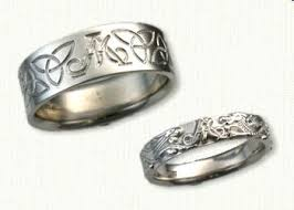 personalized wedding band 28 best celtic personalized wedding bands images on