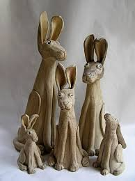 ceramic nature rabbit table l pottery figures ceramics and pottery arts and resources