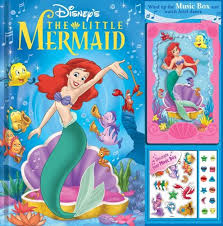 mermaid storybook music box disney princess