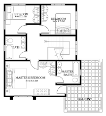 modern house design plan modern house designs such as mhd 2012004 has 4 bedrooms 2 baths and
