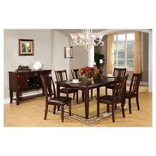 iohomes 7pc sturdy dining table set wood espresso target