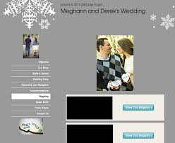 wedding registry websites wedding a tour of our wedding website