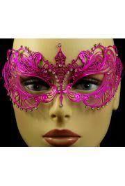 laser cut masquerade masks venetian metal hot pink laser cut masquerade mask with rhinestones