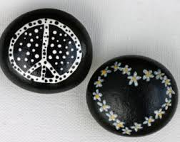 painted rocks space kitchen magnets blue sky and stars