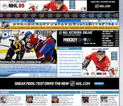 hands on nhl com 2 0 goes top shelf with streaming video ars