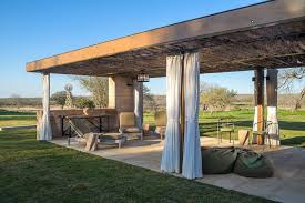 temple ranch pool cabana with jacal shade structures