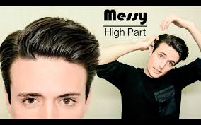 messy high part hairstyle quick u0026 easy mens hair tutorial youtube
