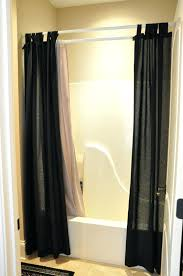 Double Curtain Rod Interior Design by Mission In In Telescoping 1 In Double Curtain Rod 72 Straight