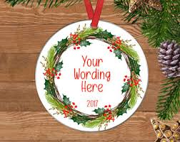 personalized family ornament family gift
