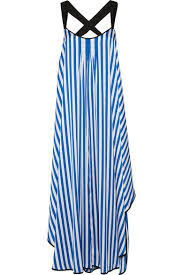 malene birger sale by malene birger shalana asymmetric striped satin maxi dress blue