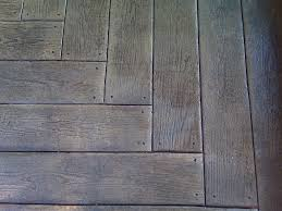 staining old concrete patio wood plank stamped concrete patio outdoor contracting