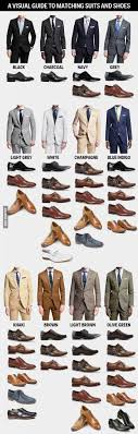 matching shoes for him and a visual guide to match suits and shoes infographics fashion