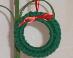 crochet wreath etsy