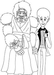 megamind minion dressing bride groom coloring pages