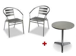 table ronde et chaises table ronde 2 chaises de jardin en aluminium montmartre