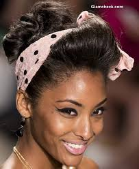 s headbands hair accessories trend s s 2014 1940s style polka dot headbands