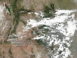 Map Of Cedar City Utah by Nasa Satellite Image Shows Smoke From Brian Head Fire Spreading To