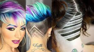 Short Shaved Hairstyles For Girls by Hair Tattoo For Girls 2018 Undercut Hairstyles Shave Hair Nape
