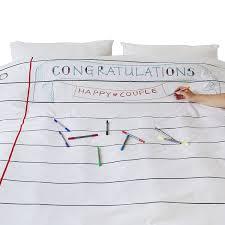 amazon com doodle cotton duvet cover to personalise double