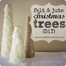 felt u0026 jute christmas tree display diy inspired by felt trees in