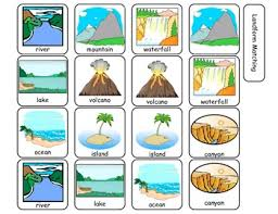 landform matching file folder activity by interactive creations tpt