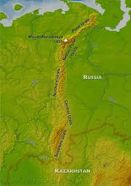 World Map Russia by Ural Mountains Map