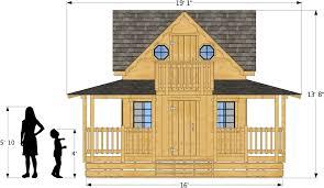 wendy playhouse plan for girls 16x12 pdf u2013 paul u0027s playhouses