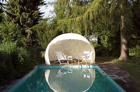 garden igloo designed both as a winter garden and a summer canopy