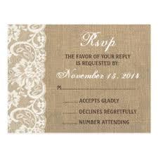 wedding rsvps burlap wedding rsvp gifts on zazzle