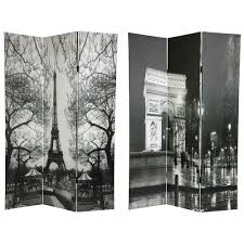 room dividers amazon com oriental furniture 6 ft tall double sided paris room