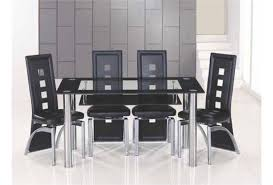 Glass Dining Table For 6 20 Photos Black Glass Dining Tables 6 Chairs Dining Room Ideas