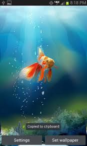 live wallpapers android goldfish in yuor phone live wallpaper free free android app