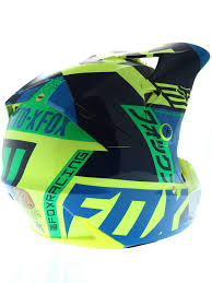 fox kids motocross gear fox blue green 2016 v3 division kids mx helmet fox