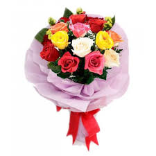 Colored Roses Affordable Beautiful Mixed Roses Bouquet Quezon City Payless Flora