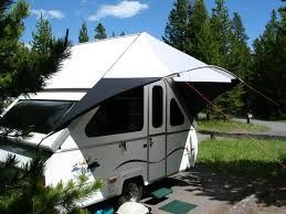 Rv Awning Shade Screen Awnings Ideas Dave Theoleguy And Nancy U0027s Aliner