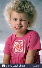 hair cute for 6 year old girls a cute little blond girl 4 6 year old wearing pink winking making