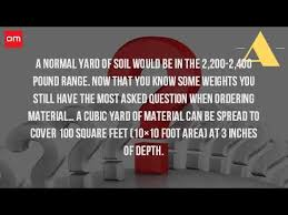 How To Calculate Cubic Yards Of Gravel How Much Does A Cubic Yard Of Topsoil Cover Youtube