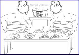christmas coloring pages for kids christmas dinner