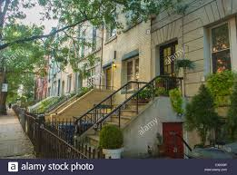 hoboken nj usa street scenes townhouses