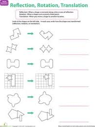 translation rotation and reflection worksheets math aids com