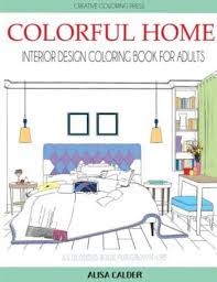Ebay Home Interior Colorful Home Interior Design Coloring Book For Adults Ebay