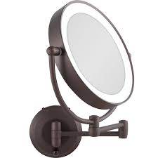 zadro lighted makeup mirror 1x 10x cordless led lighted wall mount makeup mirror