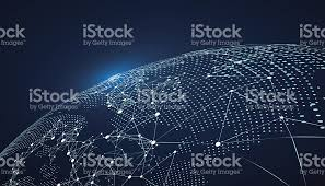 world map stock image world map point line composition representing the global stock