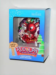 for sale rudolph clarice crafted glass ornament rudolph