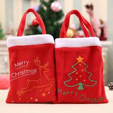 christmas children candy bag cute reindeer xmas tree printed kids