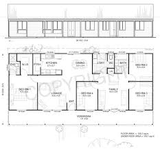 Metal Ranch House Floorplans Earlwood 4 Met Kit Homes 4 House Floor Plan Kits