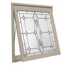 Home Depot Awning Windows Hy Lite 28 5 In X 28 5 In Decorative Glass Awning Vinyl Window