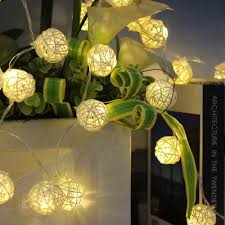 White Patio Lights by Amazon Com Innoolight 40 Rattan Ball String Lights Leds