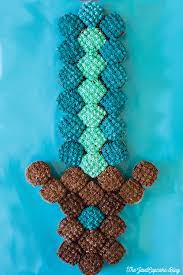 minecraft sword pull apart cupcake cake recipe minecraft sword